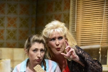 Jess Robinson as Little Voice and Beverley Callard as Mari Hoff. Photo Credit Paul Coltas