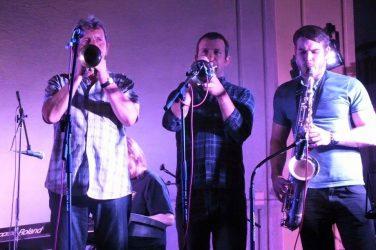 Horn players Vaughn Eccles, Dave Boraston & Pete Donnelly.