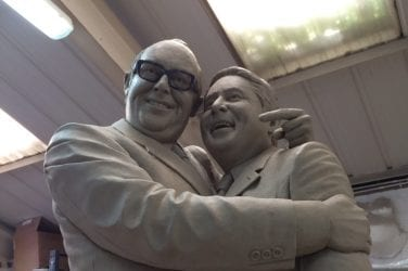 Morecambe and Wise Statue in Clay
