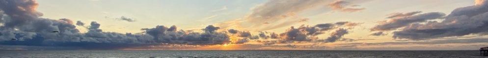 sunset on blackpool beach