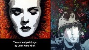 Two recent portraits by John Marc Allen