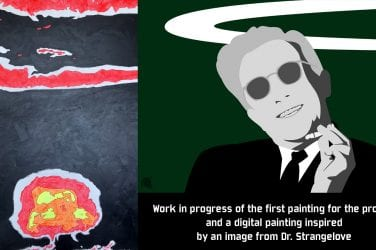 Two pieces of artwork by John Marc Allen